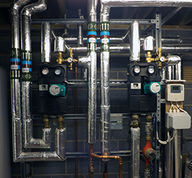 Commercial heating pipework